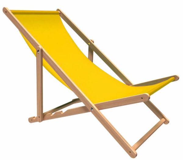 Leżak Rina żółty